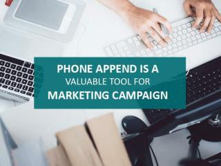 Phone Append Is A Valuable Tool For Marketing Campaign