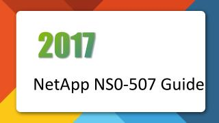 NS0-507 NetApp Certified Implementation Engineer - SAN, Clustered Data ONTAP Killtest Practice Exam