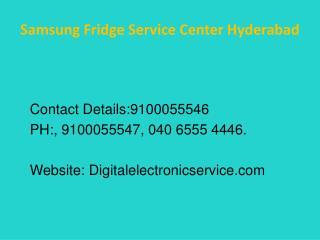 Samsung Fridge Service Center Hyderabad
