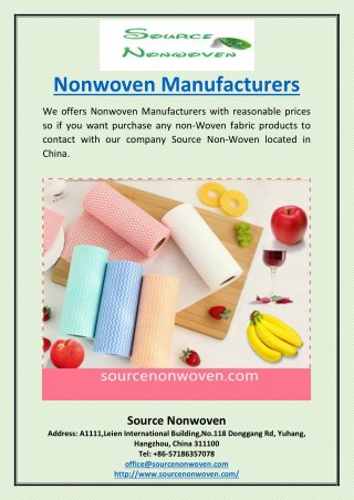 Nonwoven Manufacturers