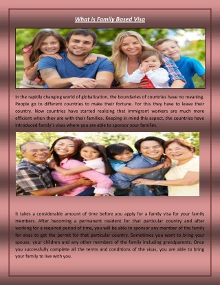 What is Family Based Visa