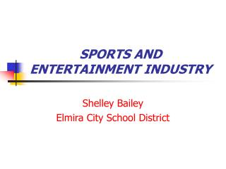 SPORTS AND ENTERTAINMENT INDUSTRY