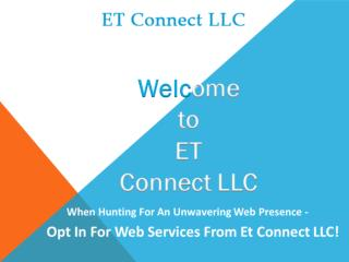 Opt Unwavering Website Services from ET Connect LLC!