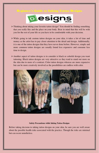 Beginner's guide to inking tattoo designs