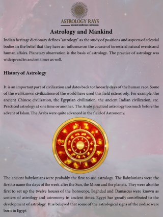 Astrology and Mankind - AstrologyRays