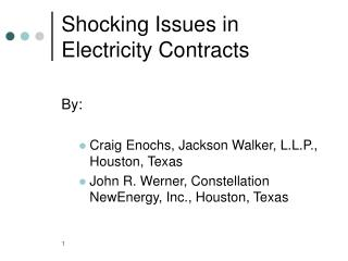 Shocking Issues in Electricity Contracts