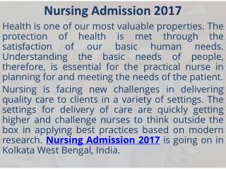 GNM Nursing Admission 2017