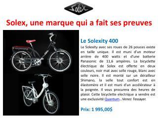 Le vélo électrique à la technologie la plus avancée