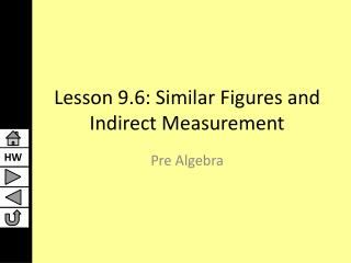 Lesson 9.6: Similar Figures and Indirect Measurement