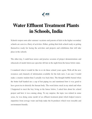 Effluent Treatment Plant in Andhra Pradesh, India