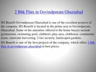 2 BHK Flats in Govindpuram Ghaziabad