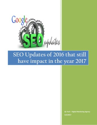SEO updates that has shaken 2016 and 2017