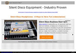 Best Rent Silent Disco Equipment Service