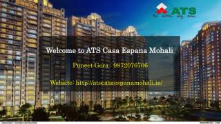 Ats Casa Espana Mohali Flat Price | Puneet Gera 9872076706