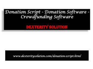 Donation Script - Donation Software - Crowdfunding Software