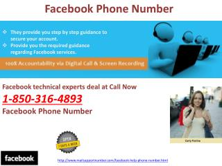 Why should I make a call at Facebook Phone Number@1-850-316-4893?