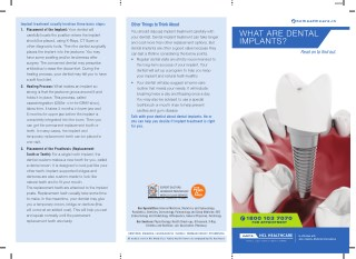 Dental Implants at HCL Healthcare