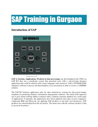 SAP Online Training in Gurgaon