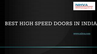 Best High Speed Doors in India
