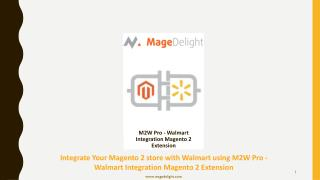Integrate Magento 2 store with Walmart using Magento 2 Walmart integration Extension