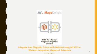 Integrate Magento 2 store with Walmart using Magento 2 Walmart integration Extension