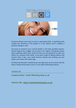 Shop for Professional Teeth Whitening Kit