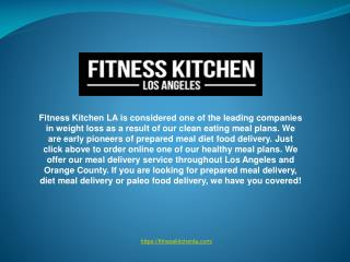 Quick Meal Delivery Service Provider in Los Angeles.