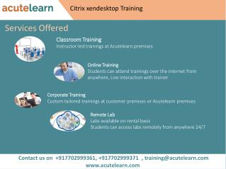 Citrix Xendesktop Training