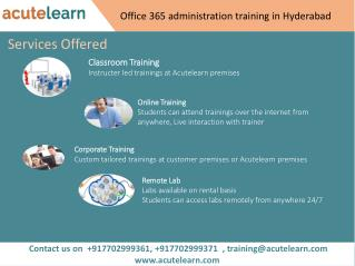Office 365 Administration Training in Hyderabad