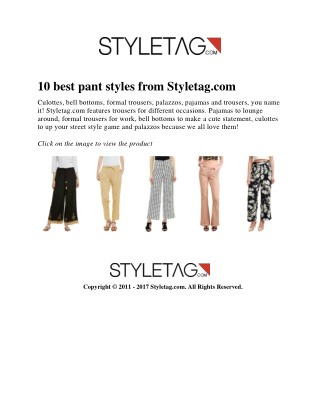 10 best pant styles