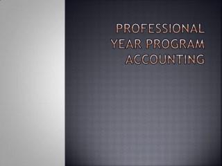 professional year program accounting