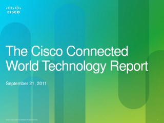 The Cisco Connected World Technology Report