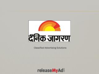 Dainik Jagran Matrimonial Advertisement Booking Online.
