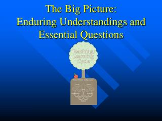 The Big Picture:  Enduring Understandings and Essential Questions