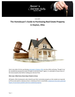 The Homebuyer's Guide to Purchasing Real Estate Property in Dayton, Ohio