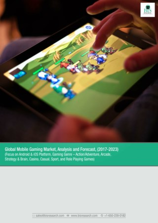 Global Mobile Gaming Market Forecast 2017-2023