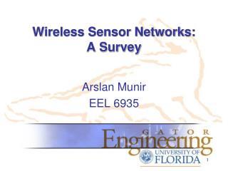 Wireless Sensor Networks:  A Survey