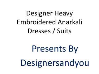 Anarkali Dress Designs: Designer Party Wear Dresses Latest Stylish Long Floor Length Floral Design