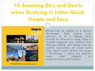 10 Amazing Do's and Don'ts when Studying in India