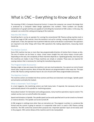 Everything you need to know about CNC Designs