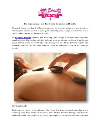 Hot stone massage: how does it work, the process and benefits
