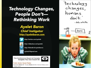 Technology Changes, People Don't: Rethinking Work