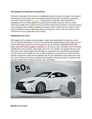 prius car covers