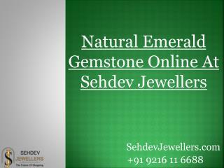 Emerald Gemstone Online At Sehdev Jewellers