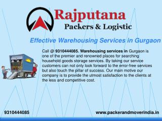 Effective Warehousing Services in Gurgaon