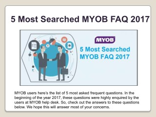 how to use myob brisbane
