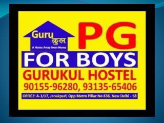 GURUKUL BOYS PG IN UTTAM NAGAR FOR STUDENTS
