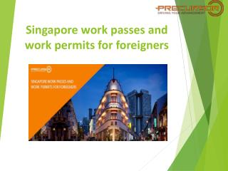 Singapore work passes and work permits for foreigners