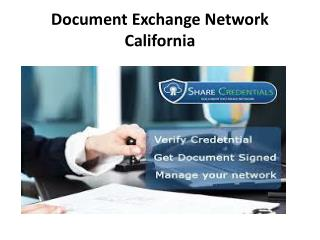 Electronic document signature -sharecredentials