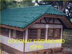 COCONUT FIBERBOARD  CFB